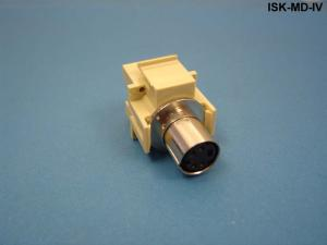 ISKF-MD-IV - Keystone compatible S-Video mini-DIN 4 pass through inserts non-high density size