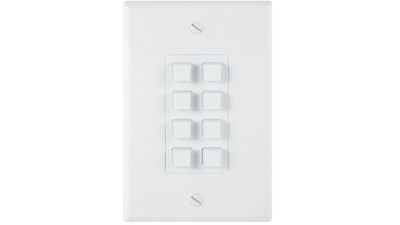 LB-KP8E - Link Bridge 8-Button Wall Plate w/ Integrated Ethernet Controller