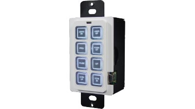 LB-KP8-H/V - Link Bridge 8 Button RS-232 Keypad Controller for LBC-H/V-T-WP Only