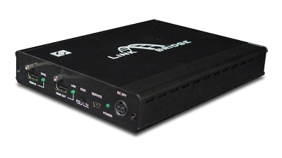 LBC-SPH4-1H3B-EIR - Link Bridge 1x4 HDMI Splitter to 1 HDMI & 3 CAT5e/6/7 with LAN/IR, POH-TX
