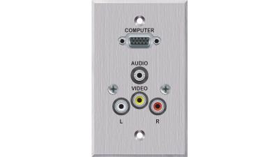 PC-EZ1000-S-T-W - Liberty EDULINX Interconnection System 2 Video 2 Audio faceplate