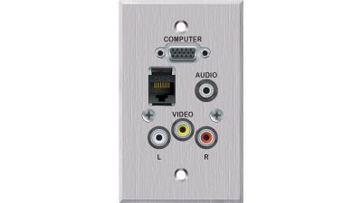 PC-EZ1260-E-T-C - Liberty EDULINX Interconnection System 2 Video 2 Audio plus network faceplate
