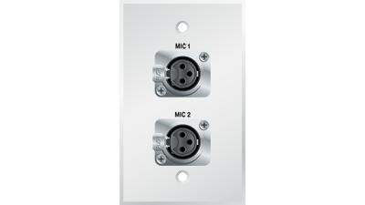 G1320-E-S-W - Panelcrafters precision manufactured dual XLR 3-Pin ...