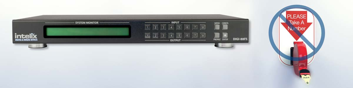 Get SUPER-FAST Matrix Switching at an outrageously affordable price with the Intelix DIGI-88FS