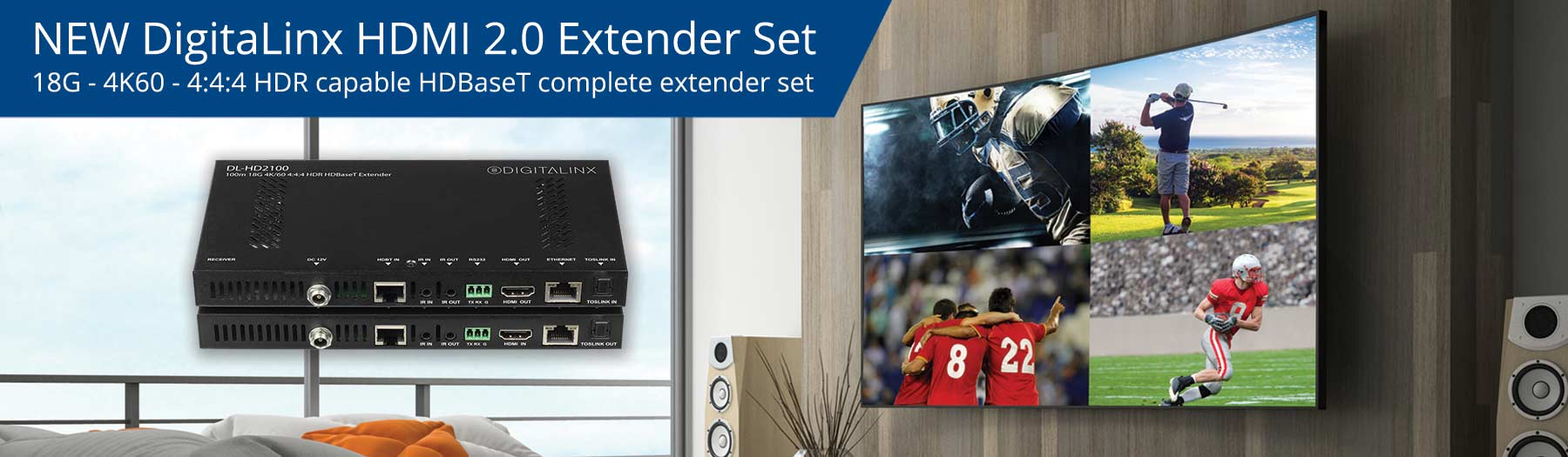 New 18G 4K60 HDMI HDBaseT Extender Set