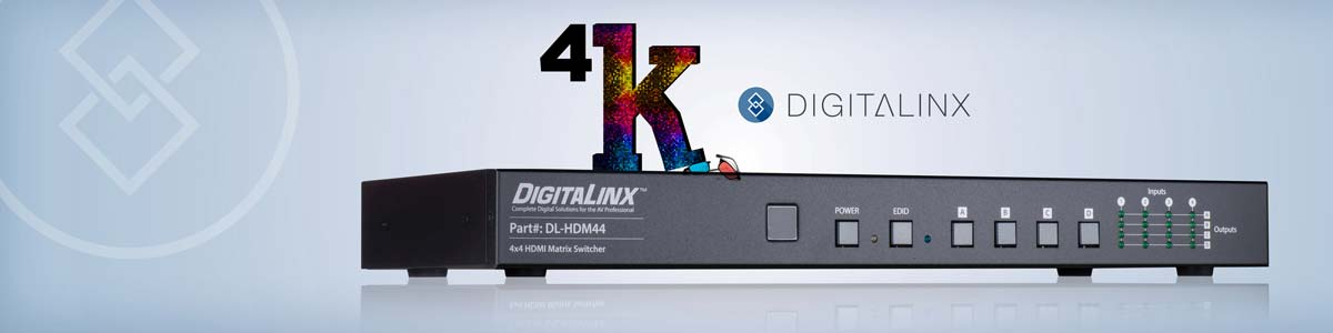 Future-proof your installations today with 4K matrix switching at an outrageously low price! DL-HDM44