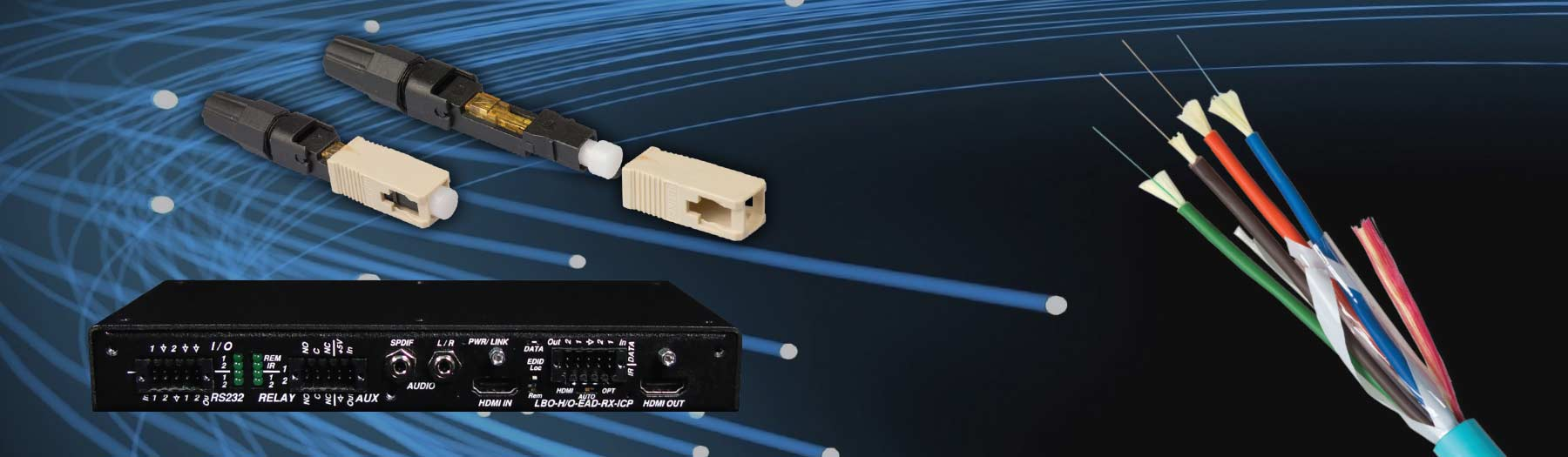 Liberty offers complete, affordable fiber optic solutions for your AV infrastructure